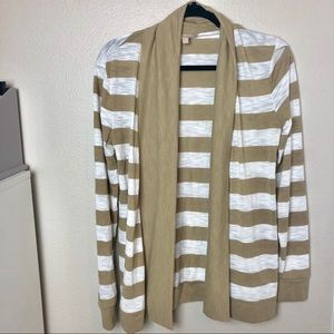 Banana Republic Striped Open Front Cardigan S